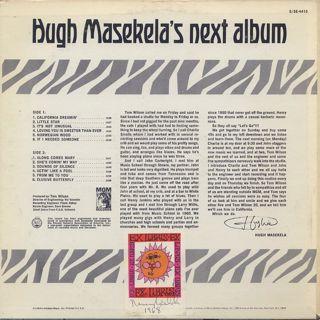 Hugh Masekela / Hugh Masekela's Next Album back