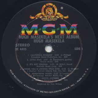 Hugh Masekela / Hugh Masekela's Next Album label