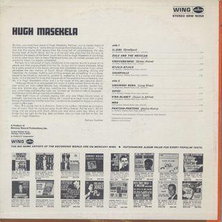 Hugh Masekela / S.T. back