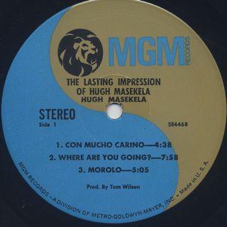 Hugh Masekela / The Lasting Impression label
