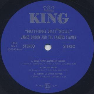James Brown & The Famous Flames / Nothing But Soul label