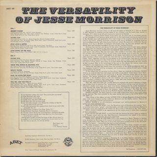 Jesse Morrison / The Versatility Of back