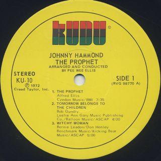 Johnny Hammond / The Prophet label