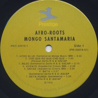 Mongo Santamaria / Afro Roots label