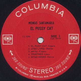 Mongo Santamaria / El Pussy Cat (Dancing Girl Jacket) label