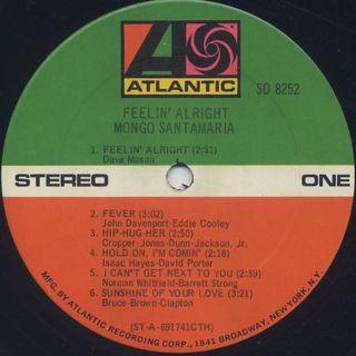 Mongo Santamaria / Feelin' Alright label