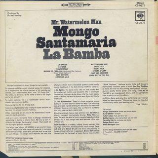Mongo Santamaria / La Bamba back