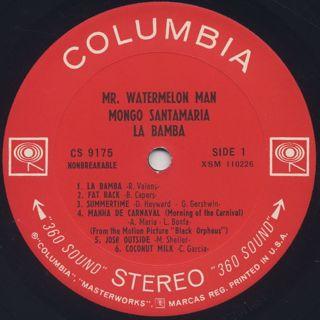 Mongo Santamaria / La Bamba label