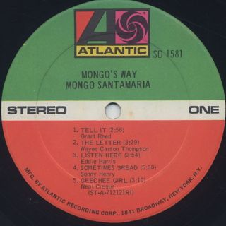 Mongo Santamaria / Mongo's Way label