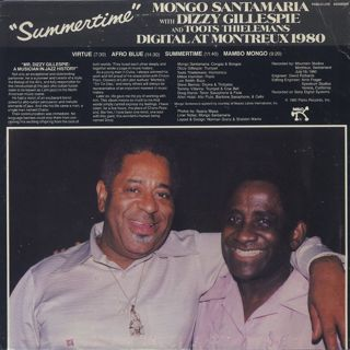 Mongo Santamaria With Dizzy Gillespie And Toots Thielemans / Summertime - Digital At Montreux 1980 back