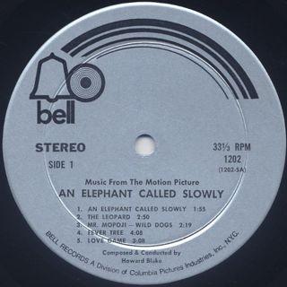 O.S.T.(Howard Blake) / An Elephant Called Slowly label