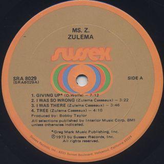 Zulema / Ms.Z label